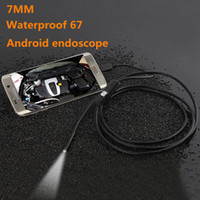 Wholesale DHL free waterproof HD mm lens Inspection Pipe m Endoscope Mini USB Camera Snake Tube with LEDs Borescope For Android PC