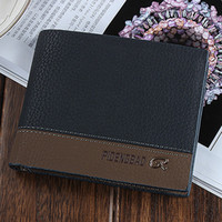 Wholesale Hot male wallet New Design Business Black Pu Leather Men Wallets Short Purse Card Holder Fashion carteira masculina black