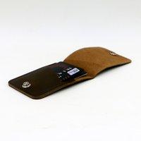 Wholesale Original Genuine Leather Slim Wallet Money Clip ID Credit Card Holder Passcase Purse
