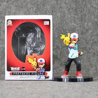 ash ketchum doll - 13 cm Anime Poke Ash Ketchum Pikachu PVC Action Figure Collectable Model Toys Dolls retail