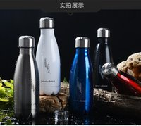 Wholesale 2016 Stainless Steel Bottles Sport cups Fashion Hot Sale Vacuum Coke Bottle Mug Creative Gifts Cups Custom Logo Multi Color