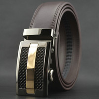 automatic letter - 35mm wide Formal real leather belt good selling alloy sliding buckle leather belt man belt waist belt