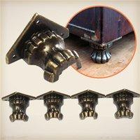 antique wood chest - 4pcs Antique Brass Jewelry Chest Wood Box Decorative Feet Leg Corner Protector