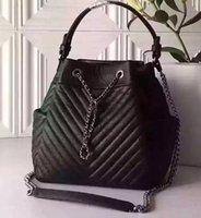 authentic luxury handbags - authentic QUALITY black drawstring bag women s real Genuine Leather small mini cute handbag France luxury Cross Body clutches cm A91273