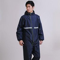 Wholesale Style single men and women in electric motorcycle split SK adult thick riding raincoat rain pants suit