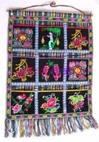 beautiful yunnan - Yunnan ethnic jewelry household handicraft embroidery three rows of amorous feelings of pouch design beautiful quiet and tastefully laid ou