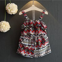 Wholesale Girls Jumpsuits for Girls Clothing New Summer Cotton Print Floral Bow Sleeveless Fashion Overalls MK