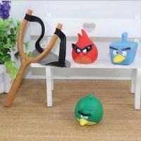 Unisex 0-12M Plastic fyling 3 birds cartoon soft Slingshot baby toy good gift for kids boy favorite