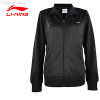 Wholesale LI NING New Tennis Training Jacket Women Breathable Solid Collar Jacket Quick Dry Sport Jacket LINING AWDH348