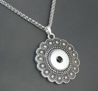 Wholesale Fashion NOOSA Pendants Necklaces Infinity Chains Retro Flower mm Interchangeable Ginger Snap Buttons Statement Necklaces For Women Jewelry