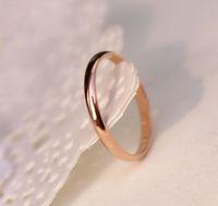 allergy titanium - Lose Money Promotion Titanium Steel Rose Gold Plated Anti allergy Smooth Couple Wedding Ring Woman Man Fashion Jewelry