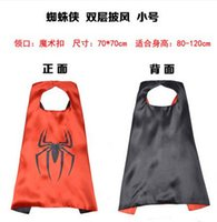 Wholesale Children s Halloween costume superman batman captain America spiderman cloak double iron man cm