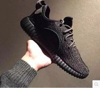 Wholesale 2016 new men mesh sneakers running shoes black pirate Kanye West Oxford Tan boost athletic basketball shoes large size