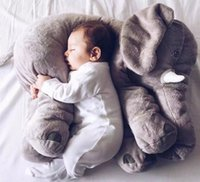 animal retail - retail elephant pillow baby doll children sleep pillow birthday gift INS Lumbar Pillow Long Nose Elephant Doll Soft Plush cm