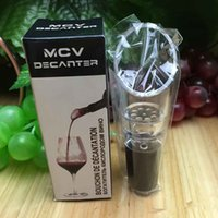Wholesale MCV Wine Aerator Wine Decanter Wine Pourers Spout Bottle Stopper Decanter Pourer Aerating Retail box package DHL free