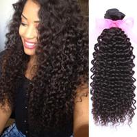 Cheap 9a Kinky Curly Human Hair Extensions Wefts Brazilian Virgin Hair Bundles No Shedding Cheap Peruvian Hair Weaves
