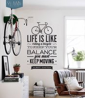 bicycle wall sticker - Life Is Like Riding A Bicycle Quote Bike Sport DIY Vinyl Modern Art Wall Stickers Wallpapers Decal Home Decoration