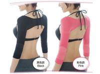 Wholesale Women Correct Posture Back Slim Arm Slimming Shapewear Top Shoulder Humpback Prevent Long Sleeve Shaper Micro Wave Massage Shapewear B4271