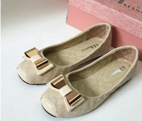 autumn spring apartments - Spring and autumn women s apartment in high quality leather shoes fashion women s apartment size to