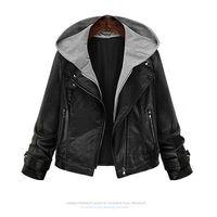 Precio de Leather jackets-Chaquetas de cuero de la PU de las nuevas mujeres 2016 Invierno de las chaquetas de manga corta de manga larga de las chaquetas al aire libre de la motocicleta Mantener abrigo caliente de la prendas de vestir Negro M-5XL