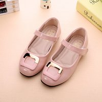 Wholesale Shoes For Kids Autumn Spring Fashion Flower Kids Shoes For Girl Leather Solid Hollow Casual Pretty Girls Shoes Z