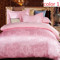 Wholesale bedding sets satin silk jacquard Cotton factory big follower queen king size full twin single adult kids