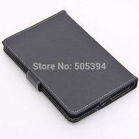 Wholesale Black Inch Tablet PC Leather Case Protecting Jacket