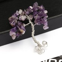 best apple trees - Snow Apple Tree of Life Necklace Amethyst Aquamarine Gemstone Jewelry Best Friend Necklace Silver Pendant colors