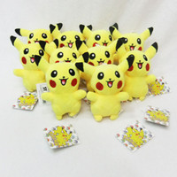 Wholesale 4 Inch Poke Pikachu Plush dolls toys EMS cm children Pikachu Charmander Jeni turtle Plush dolls Keychain Pendants B