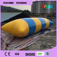 Wholesale m mm PVC tarpaulin inflatable water blob inflatable blob jump water blob bag free pump repair kit