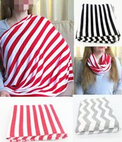 Wholesale 2016 Ins Hot Baby Mum Nursing Breastfeeding Poncho Zig Zag Stiped Cover Up Udder Covers Cotton Blanket Shawl