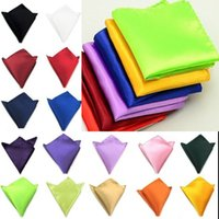Wholesale Fashion Hankerchief colors Pocket square Napkin kerchief mocket men s noserag For Cocktail Party Wedding Party Christmas Free FedEx