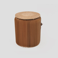 study room furniture - H35xDia32cm Novel Innovation Furniture Pop Paper Stools Indoor Party Table Study room Waterproof Accordion Style Kraft Height quot Primary