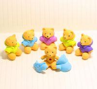 bear eraser - DIY little bear eraser creative Three dimensional animal eraser gift small yellow cute bear eraser