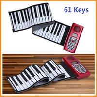 Wholesale Musical Instrument Portable Standard Keys MIDI Roll Up Piano Silicone Rubber Soft Keyboard with LCD Display Novelty Piano