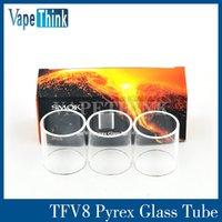 Wholesale Original Smok TFV8 Glass Tube Pyrex Replacement Glass Sleeve From Vapethink