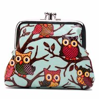 bank exchange - Wallets Holders Wallets Women Men Owl Butterfly Polka Dot Scottie Dog Oilcloth Small Exchange Coin Purse Bank Credit Cards Walltet Hand Bag