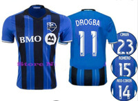 Wholesale 16 New Montreal Impact soccer jerseys Drogba Football Shirt ODURO BERNIER PIATTI Collen Warner camisetas de futbol Top Quality