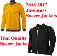 anti coating - Benwon Juventuss black soccer coats full sleeve athletic football jackets thai quality winter coats adult s leisure sports hoodies