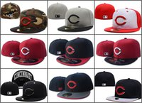 baseball field sizes - Men s Cincinnati Reds Fitted Hats embroidered Team Logo Women s Sport Baseball On Field Full Closed Caps Fashion Hip Hop Sized Hats