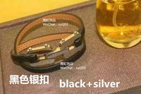 american food brands - Fashion brand gray red leather bracelet Punk style metal bangle multicolor ring circle rivet leather braceletClassic style