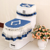 Wholesale 10 Styles pieces Set Toilet Seat Cover U shaped Overcoat Toliet Case With Lace Home Decor Bathroom Use WC Warm Toilet Cover