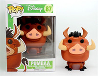 Wholesale The Lion King New hot sale funko pop Simba Pumbaa Toy PVC Action Figure Collectible Pumbaa Kids Toys figures Gifts CM EMS