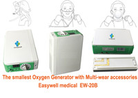 Wholesale EASYWELL Handheld Oxygen Concentrator Home use oxygen concentrator with car power adaptor EW B