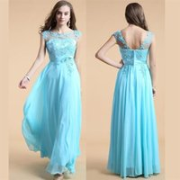affordable dresses online - Lastest Look of the New Style Long Custom Blue A line Pretty Evening Party Affordable Prom Dresses Online