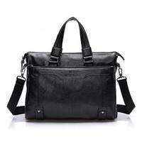 Wholesale Men s Handbag Briefcase Leisure Business Men s Bag Computer Bag Leisure Business Men s Package Leather Casual Handbag