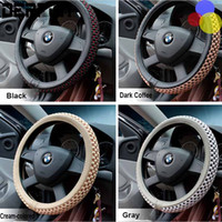 Wholesale High Quality Viscose fiber Steering Wheel Covers For Car Fit Car Styling for kia vw ford toyota nissan etc Size cm