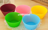 Wholesale Silica Gel Liners Baking Mold cm Silicone Muffin Cup Baking Cake Eco Friendly Cupcake Bakeware With FDA