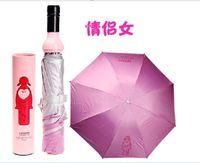Wholesale Creative fashion creative household items Bottle Umbrella couple new fashion cartoon umbrella umbrella