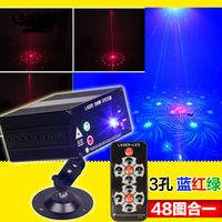 Wholesale Remote control hole figure stage laser LED red green and blue v stroboscopic radium shoots the KTV disco